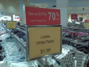 No Joke People. New Pants. 60-cents.
