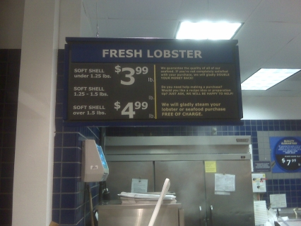Seriously, the grocery stores steam the lobster for you, so just slap some butter on that fellow, add some lemon juice, and now we're talking!