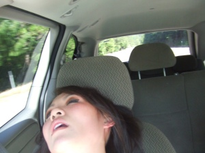 I have no problem falling asleep in a friend's minivan on the way home from Tahoe 2 years ago. I apparently don't wake up, even if someone takes a picture while I'm sleeping!!!