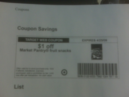 The best part of Target printable coupons, is you can print out as many as you like.  There's no limit like there is with some printable manufact. coupons.