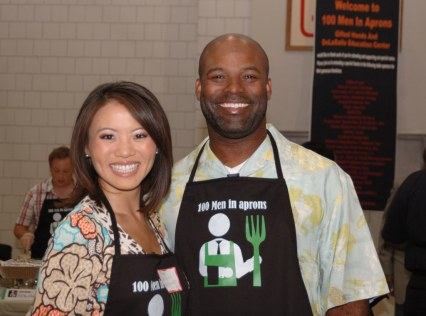 Me and former Royal, Brian McRae (he was my judging partner for the day)