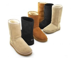Peggy Breit tells me she's had her UGGS for decades-- they never go out of style!