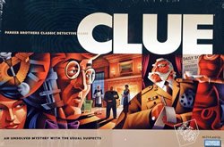 This is my all time favorite board game.  In elementary school, my best friend Carolyn and I made our own double-decker CLUE board...