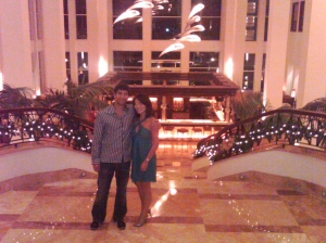 "Our assignment desk editor said ""I want to see pictures from your vacation!"" but like I told him, my real camera died the first day we got to Mexico.  However, I'm slowly uploading the pictures we took from our phone.  BTW: the resort we stayed at was an *amazing* value, about 50% off their normal nightly rates.  One couple told us they got 50% off because they booked during the height of the swine flu outbreaks. In any case, the place was gorgeous."