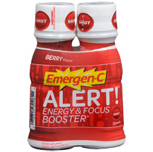 This is supposedly like an amped up version of the original Emergen-C. The sample you'll get is in the powdered mix form. Just add water.