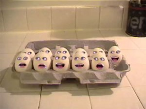 "Hah!  Searching for ""egg"" images online yielded many results...including this slightly horrific one."