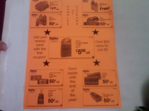 This is just a sample of all the coupons you'll get.  Take note of the FREE drink coupon in the top right too.