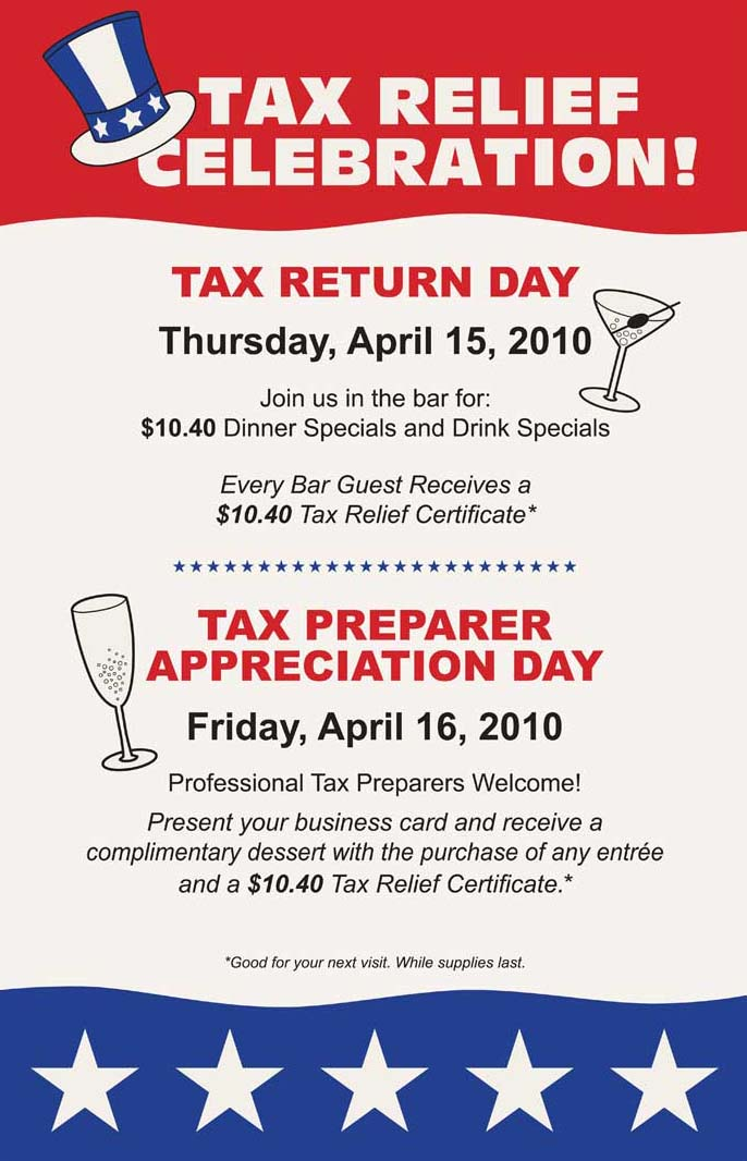 Dion\'s Tax Day Deal: $10.40 Meal @ McCormick & Schmicks *AND* FREE ...
