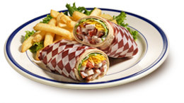 The restaurant is rolling out their new wrap items, so they're promoting it with the FB coupon.